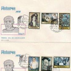 Sellos: EDIFIL 2481/8, PICASSO, PRIMER DIA DE 29-9-1978 EN 3 SOBRES DEL SFC . Lote 148184410