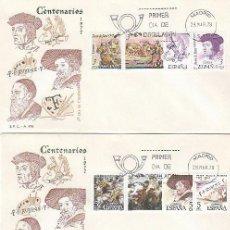 Sellos: EDIFIL 2460/8, CENTENARIO DE JUAN DE JUNI, RUBENS Y TIZIANO, PRIMER DIA 28-3-1978 3 SOBRES DEL SFC . Lote 148186122