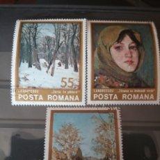 Timbres: SELLOS R RUMANIA (P. ROMANA) MTDOS/1975/PINTURAS/PAISAJES/MUJER/ARBOLES/BOSQUE/NATURALEZA/ARTE. Lote 149128874