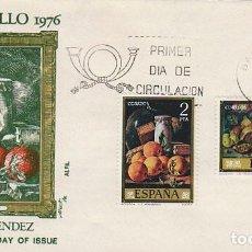 Sellos: EDIFIL 2361 DIA DEL SELLO PINTORES, MELENDEZ, BODEGÓN PRIMER DIA MATASELLO BARCELONA 29-9-1976 ALFI. Lote 150414334