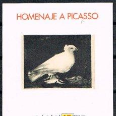 Sellos: HOMENAJE A PICASSO, BARNAFIL AÑO 1978, PALOMA DE PICASSO, NUEVO *** HOJITA BLOQUE SIN DENTAR. Lote 151501230