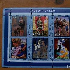 Sellos: ARTE-PINTURA-GUINEA BISSAU-2001-MINIPLIEGO+BLOQUE**(MNH).-PABLO PICASSO. Lote 154006102