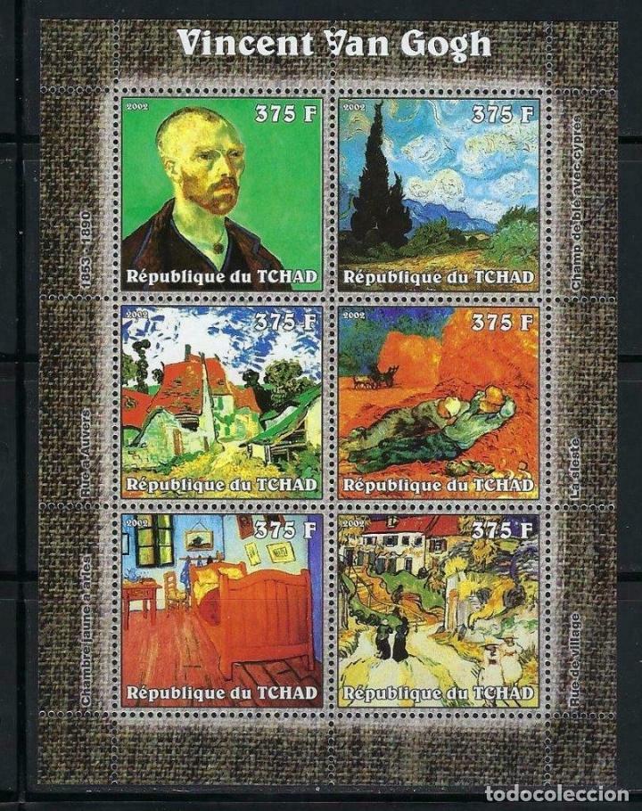 TCHAD 2002 HB *** ARTE - PINTURA - VINCENT VAN GOGH (Sellos - Temáticas - Arte)