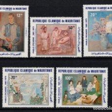 Timbres: MAURITANIA AEREO 204/08** - AÑO 1981 - PINTURA - CENTENARIO DEL NACIMIENTO DE PABLO PICASSO. Lote 155133574