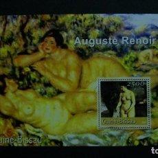 Sellos: ARTE-PINTURA-GUINEA BISSAU-2001-BLOQUE**(MNH).-AUGUSTE RENOIR. Lote 155673714