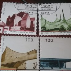Sellos: SELLOS ALEMANIA, R. FEDERAL MTDO/1997/ARQUITECTURA ALEMANA/FILARMONICA/IGLESIA/PABELLON/EDIFICIOS/. Lote 155786598