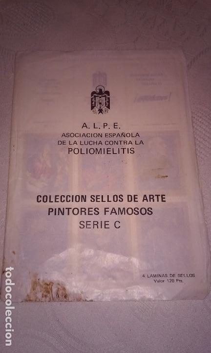 A.L.P.E. ASOC. ESPAÑOLA LUCHA POLIOMILITIS (COLECCIÓN SELLOS DE ARTE FAMOSOS SERIE C) (Sellos - Temáticas - Arte)