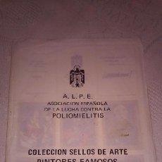 Sellos: A.L.P.E. ASOC. ESPAÑOLA LUCHA POLIOMILITIS (COLECCIÓN SELLOS DE ARTE FAMOSOS SERIE C). Lote 156643702