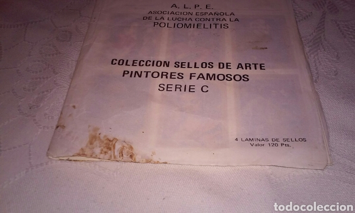 Sellos: A.L.P.E. ASOC. ESPAÑOLA LUCHA POLIOMILITIS (colección sellos de arte famosos SERIE C) - Foto 2 - 156643702