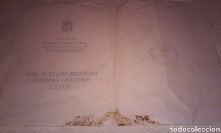 Sellos: A.L.P.E. ASOC. ESPAÑOLA LUCHA POLIOMILITIS (colección sellos de arte famosos SERIE C) - Foto 4 - 156643702
