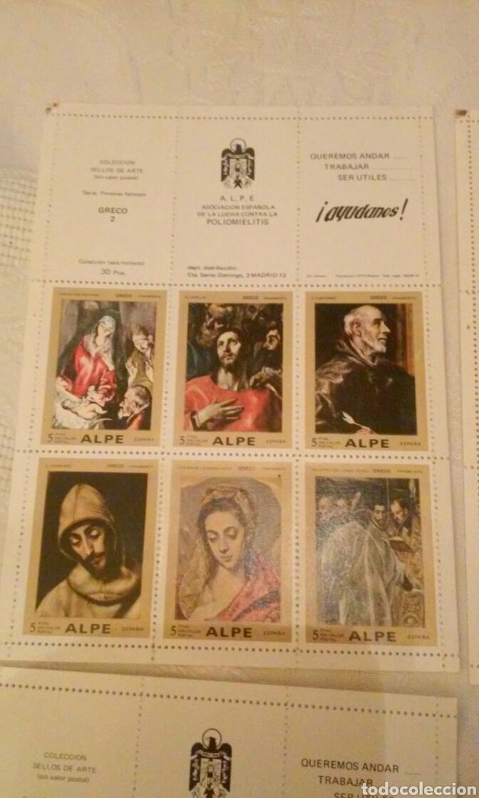 Sellos: A.L.P.E. ASOC. ESPAÑOLA LUCHA POLIOMILITIS (colección sellos de arte famosos SERIE C) - Foto 8 - 156643702