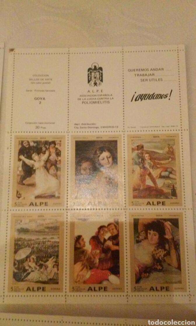 Sellos: A.L.P.E. ASOC. ESPAÑOLA LUCHA POLIOMILITIS (colección sellos de arte famosos SERIE C) - Foto 11 - 156643702