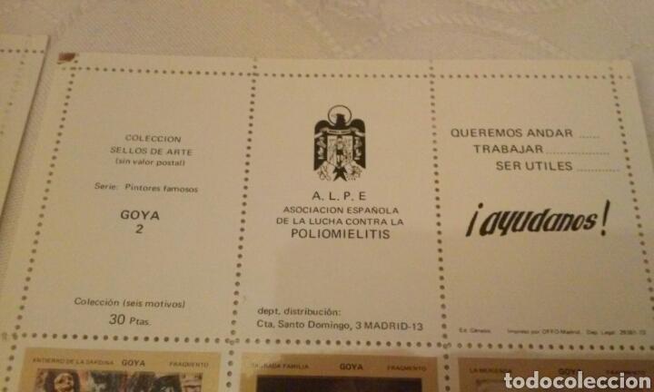 Sellos: A.L.P.E. ASOC. ESPAÑOLA LUCHA POLIOMILITIS (colección sellos de arte famosos SERIE C) - Foto 12 - 156643702