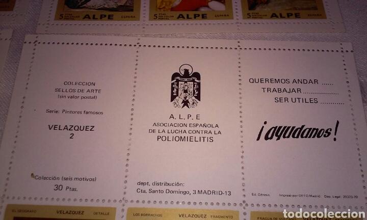 Sellos: A.L.P.E. ASOC. ESPAÑOLA LUCHA POLIOMILITIS (colección sellos de arte famosos SERIE C) - Foto 16 - 156643702