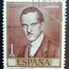 Sellos: 1965. ARTE. ESPAÑA. 1661. RETRATO DEL PINTOR ROMERO DE TORRES. USADO.. Lote 161948466
