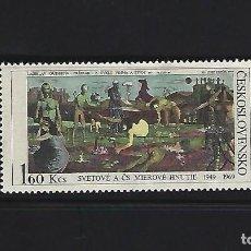Sellos: SELLOS TEMA PINTURA CHECOSLOVAQUIA 1969 1716 PINTURA 1V.. Lote 163959170