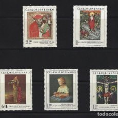 Sellos: SELLOS TEMA PINTURA CHECOSLOVAQUIA 1969 1756/60 PINTURA 5V.. Lote 164078134