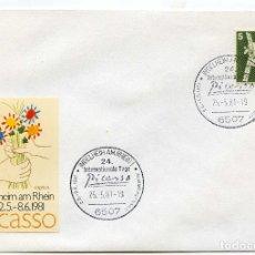Sellos: PABLO PICASSO, MATASELLOS CONMEMORATIVO AÑO INTERNACIONAL PICASSO 1981 INGELHEIM AM RHEIN ALEMANIA. Lote 164647682