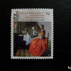 Sellos: ARTE-PINTURA-RFA-2017-70C. /º/-JAN VERMEER VAN DELFT(1659). Lote 171465915