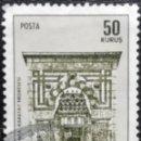 Sellos: 1969. ARTE. TURQUÍA. 1899. MONUMENTO KARATAY MEDRESEVI EN LA CIUDAD DE KONYA. SERIE CORTA. USADO.. Lote 168276160