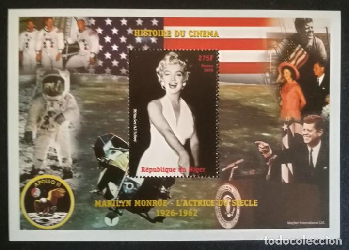 SELLO REPUBLICA DE NIGER 1999 HISTORIA DEL CINE MARILYN MONROE (Sellos - Temáticas - Arte)