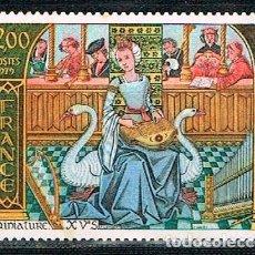 Sellos: FRANCIA IVERT Nº 2033, MINIATURA DEL SIGLO XV SOBRE LA MÚSICA, NUEVO. Lote 170284040