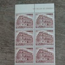 Sellos: 10 SELLOS 40 PTS PALACIO SOÑANTES SANTANDER 1987. Lote 170396502