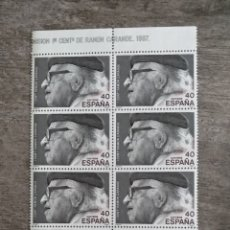 Sellos: 10 SELLOS ESPAÑA 40 1ER CENT. RAMÓN CARANDE 1987. Lote 170396602