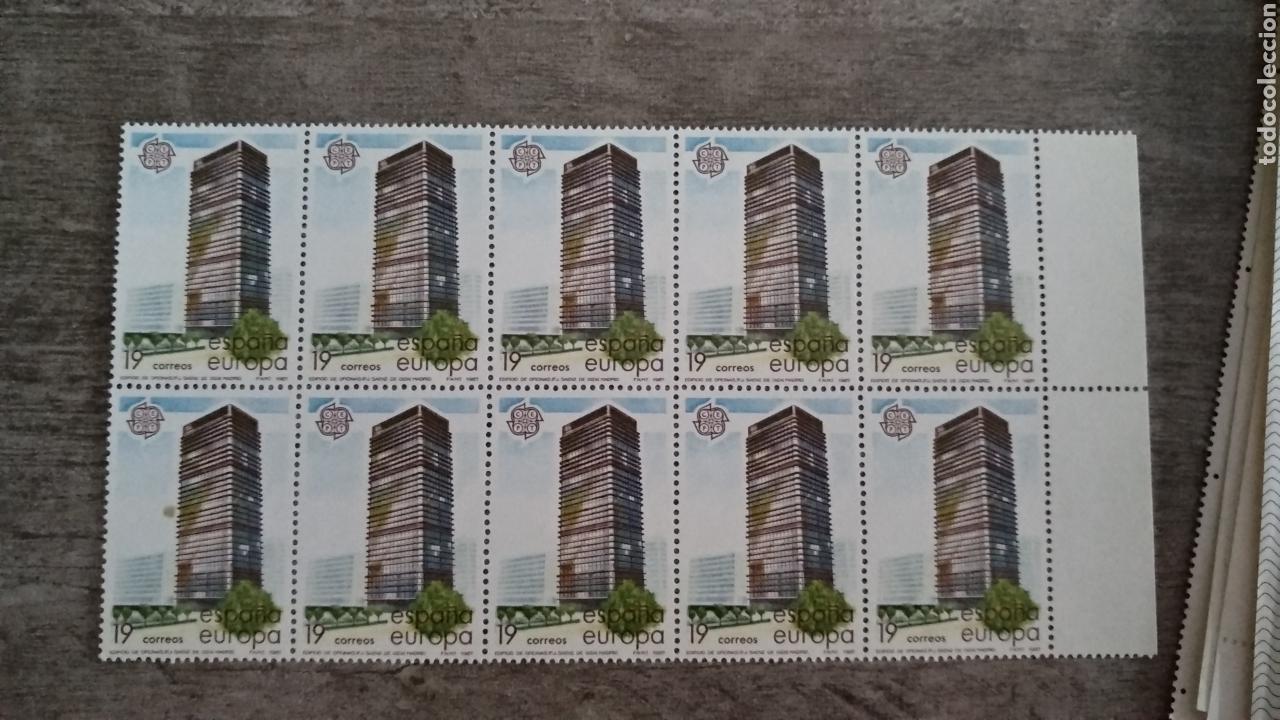 10 SELLOS ESPAÑA EUROPA 1987. EDIFICIO OFICINAS (Sellos - Temáticas - Arte)