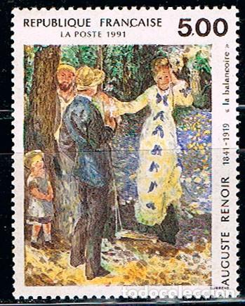 FRANCIA Nº 2692, RENOIR, EL COLUMPIO, NUEVO *** (Sellos - Temáticas - Arte)