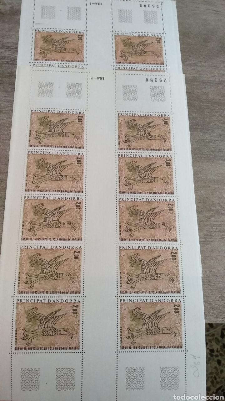 Sellos: Dos Hojas de 10 Sellos Principat DAndorra Francesa 1979 - Foto 2 - 171976243