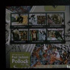 Sellos: PINTURA-PAUL JACKSON POLLOCK-MOZAMBIQUE-2012-MINIPLIEGO**(MNH). Lote 172026800