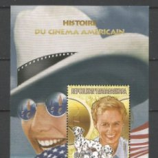Sellos: SELLOS MADAGASCAR AÑO 1999. HISTORIA DEL CINE AMERICANO. -GLENN CLOSE - HOJA BLOQUE NUEVA. Lote 172585677