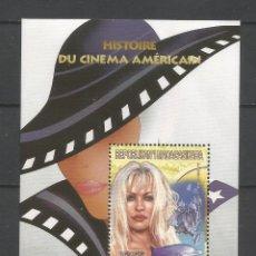 Sellos: SELLOS MADAGASCAR AÑO 1999. HISTORIA DEL CINE AMERICANO. -PAMELA ANDERSON- HOJA BLOQUE NUEVA. Lote 172585793