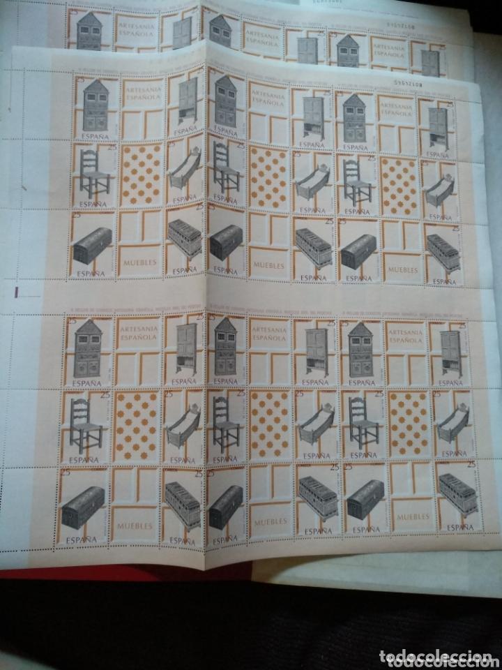 2 HOJAS BLOQUE DE 36 SELLOS ( 6 JUEGOS DE 6)DE 25PTS ARTESANÍA ESPAÑOLA MUEBLES 1991 (Sellos - Temáticas - Arte)