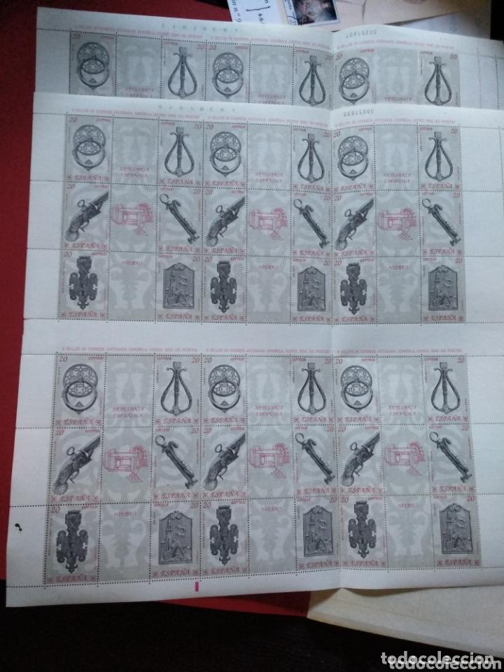 2 HOJAS BLOQUE DE 36 SELLOS CADA UNA ( 6 DE 6) DE 20PTS ARTESANÍA ESPAÑOLA HIERRO. 1990 (Sellos - Temáticas - Arte)