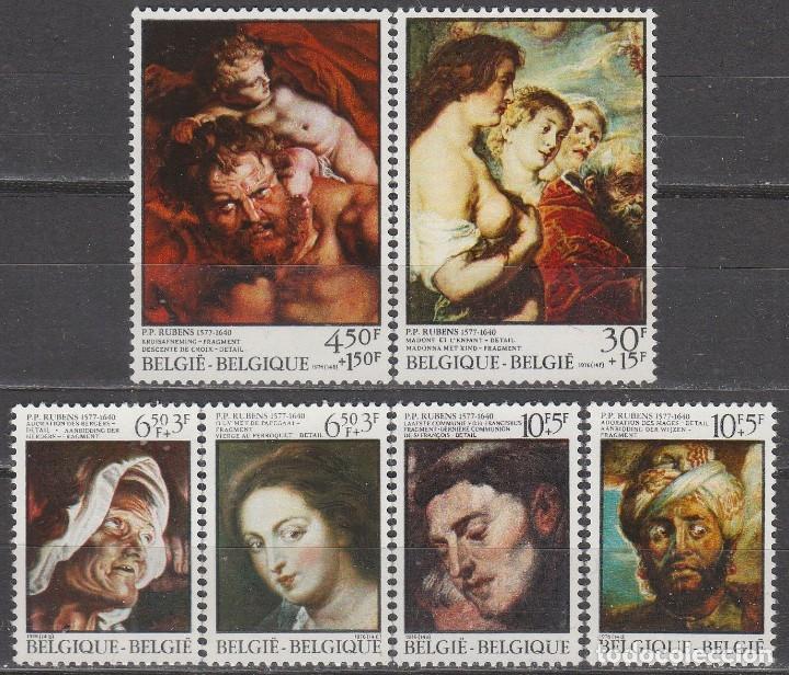 BELGICA IVERT Nº 1811/6, 4º CENTENARIO DE RUBENS, NUEVO *** (Sellos - Temáticas - Arte)