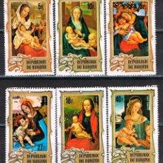 Sellos: BURUNDI 1131/6, CUADROS DE DIVERSOS PINTORES (NAVIDAD), USADO. Lote 173018203