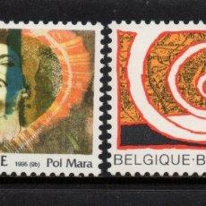Sellos: BELGICA 2602/03** - AÑO 1995 - PINTURA - OBRAS DE POL MARA Y DE PIERRE ALECHINSKY. Lote 175613402