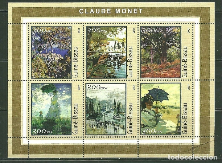 GUINEA BISSAU 2001 IVERT 1002/7 *** ARTE - CUADROS DE MONNET - PINTURA (Sellos - Temáticas - Arte)