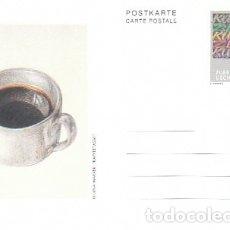 Sellos: LIECHTENSTEIN ARTE: OLEO DE REGNAXER; :LA TAZA DE CAFÉ, ENTERO POSTAL SIN USAR. Lote 182405428