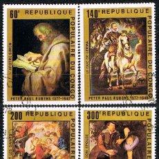 Sellos: CONGO IVERT AEREO Nº 607/10, 4º CENTENARIO DE RUBENS, USADO (SERIE COMPLETA). Lote 182767060
