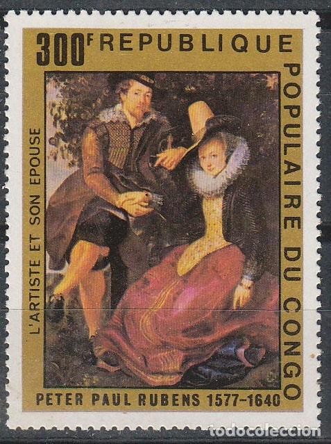 CONGO IVERT AEREO Nº 610, 4º CENTENARIO DE RUBENS, NUEVO *** (Sellos - Temáticas - Arte)