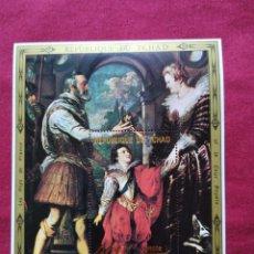 Sellos: HOJA DE BLOQUE TCHAD RUBÉNS HENRI IV. Lote 182900797