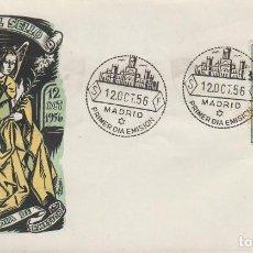 Sellos: EDIFIL 1195, ARCANGEL SAN GABRIEL (FRA ANGELICO), PRIMER DIA DE 12-10-1956, SOBRE DE PANFILATELICAS. Lote 183415791