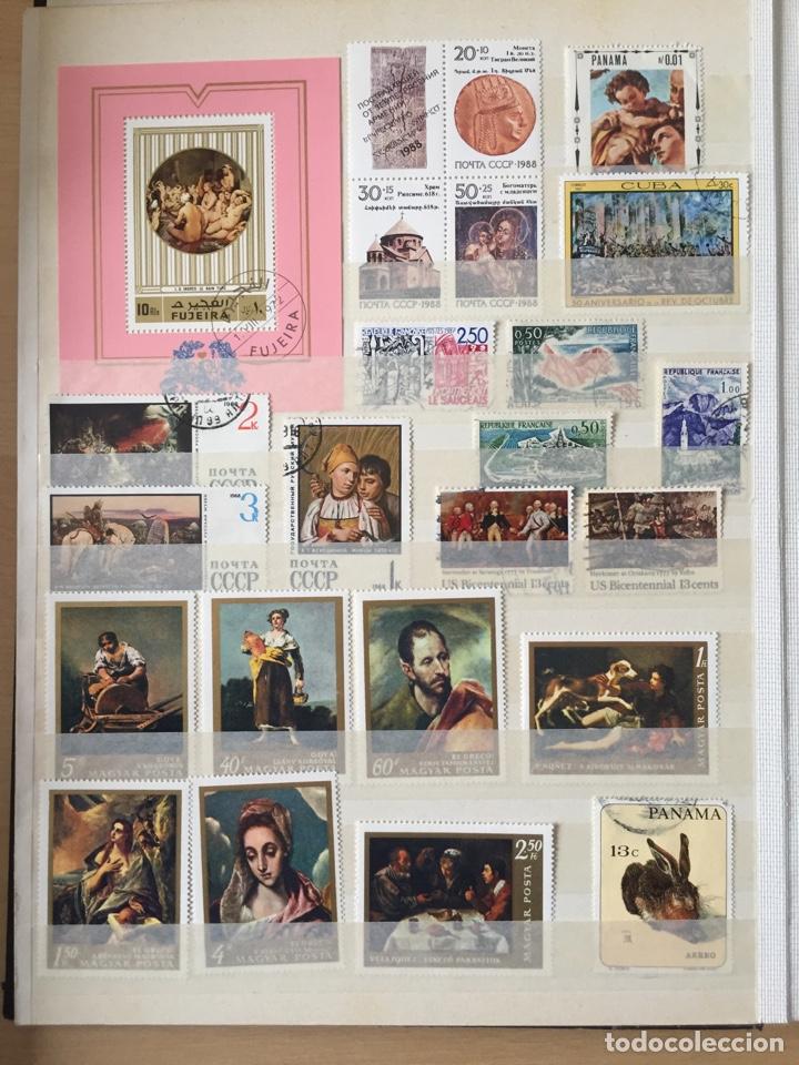 Sellos: FANTÁSTICA COLECCIÓN DE SELLOS Y HB DE PINTURAS ARTE. 35 fotos.Con clasificador de 32 paginas - Foto 5 - 184432318