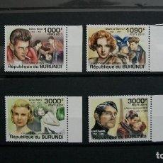Sellos: /02.04/-BURUNDI-2011-Y&T 1257/60 EN NUEVO**(MNH)-CINE-ACTORES FAMOSOS. Lote 186203472