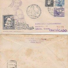 Sellos: AÑO 1949, MARTINEZ MONTAÑÉS, EXPOSICION EN MADRID, SOBRE DE PANFILATELICAS CIRCULADO. Lote 295437018