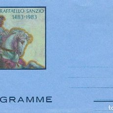Sellos: VATICANO, 5º CENTENARIO DE RAFAEL, AEROGRAMA SIN USAR. Lote 191026652