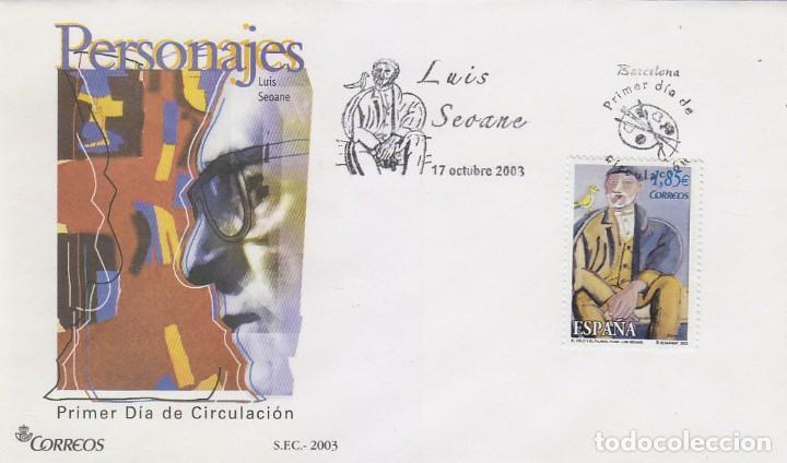 EDIFIL 4026, ARTE, LUIS SEOANE: EL VIEJO Y EL PÁJARO, PRIMER DIA DE 17-10-2003 (Sellos - Temáticas - Arte)